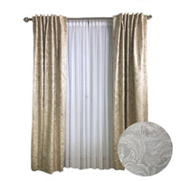 Ivory Paisley Leaf Tone-on-Tone Curtains