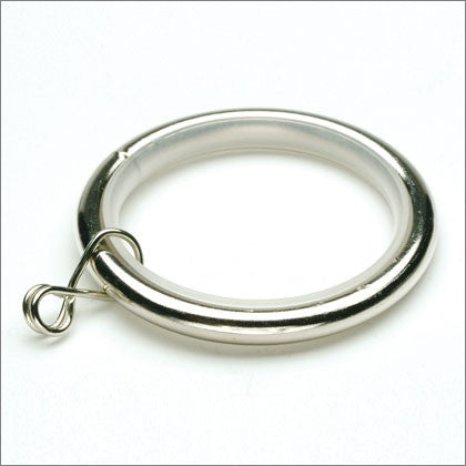 Rings URG brushed nickel 10 per bag 1 1/8 colection