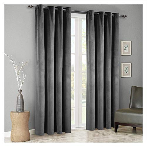Sophia Grommet Drapery Panel 50 X 96  Grey, Lined