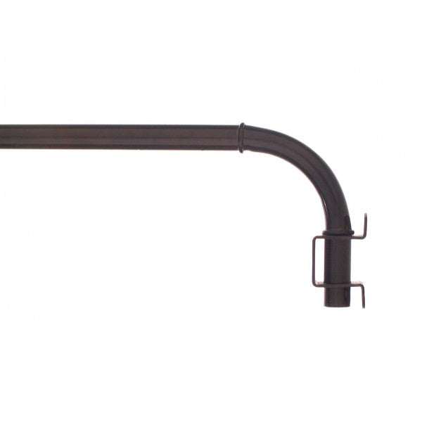 "Source Global 14-24"" Swing Arm Curtain Rod, 14""-24"""