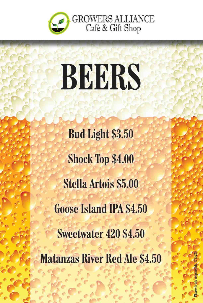 Growers_Alliance_Cafe_Draft_Beer_Menu_St_Augustine_Beach_Florida