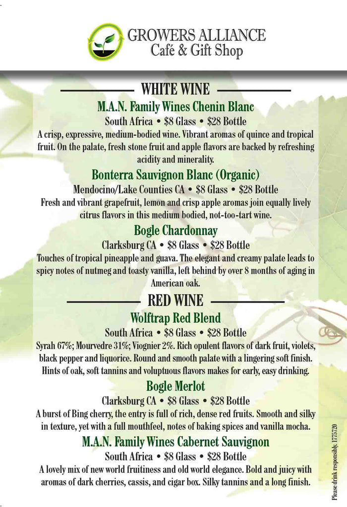Growers_Alliance_Cafe_Wine_List_St_Augustine_Beach_Florida