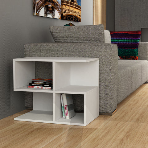 Aaron Corner Side Table White