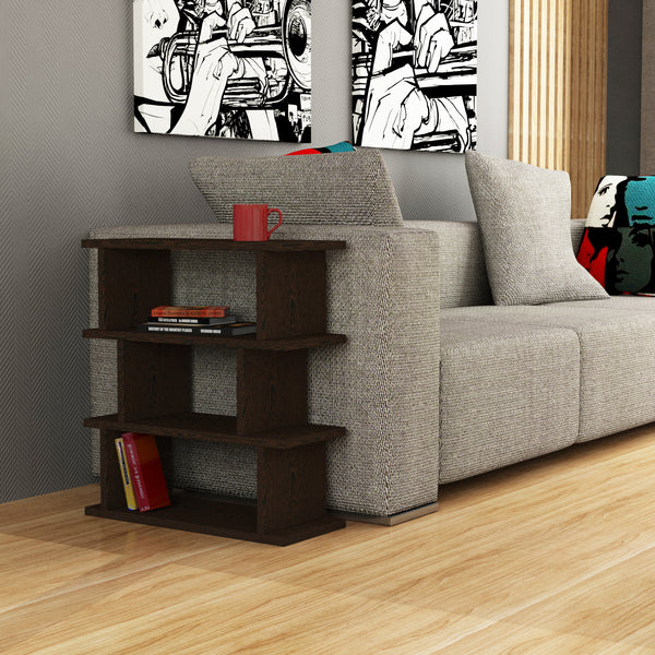 Totem Side Table Dark Brown