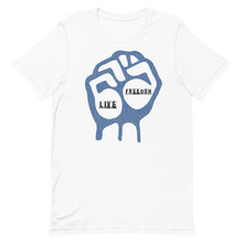 "Load image into Gallery viewer, Live Freedom Brand ""FRDM FIST"" graphic t-shirt - Live Freedom Brand"