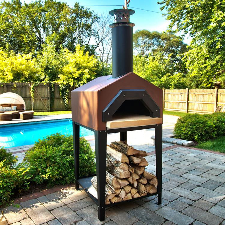 chicago brick oven americano wood fired pizza oven countertop model real pizza ovens - Countertop Pizza Oven