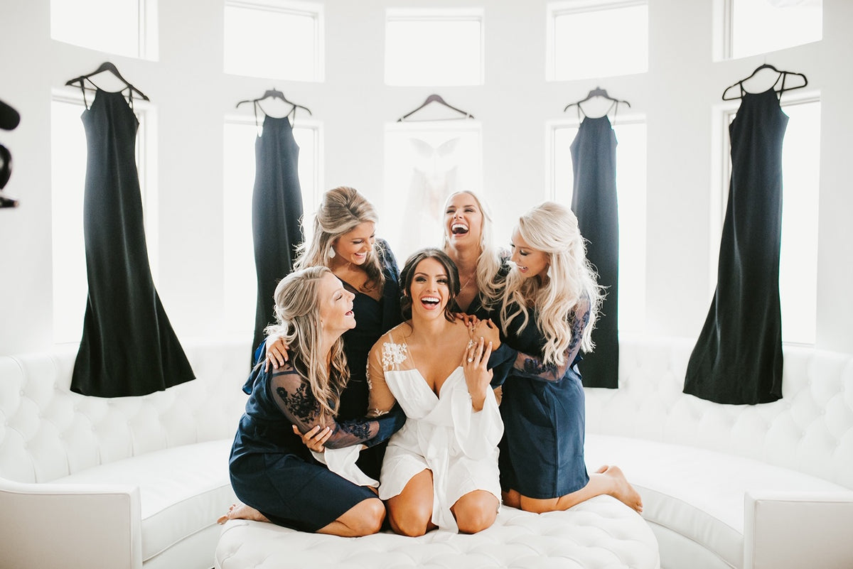 Navy bridesmaids robes Kelsey lowrance