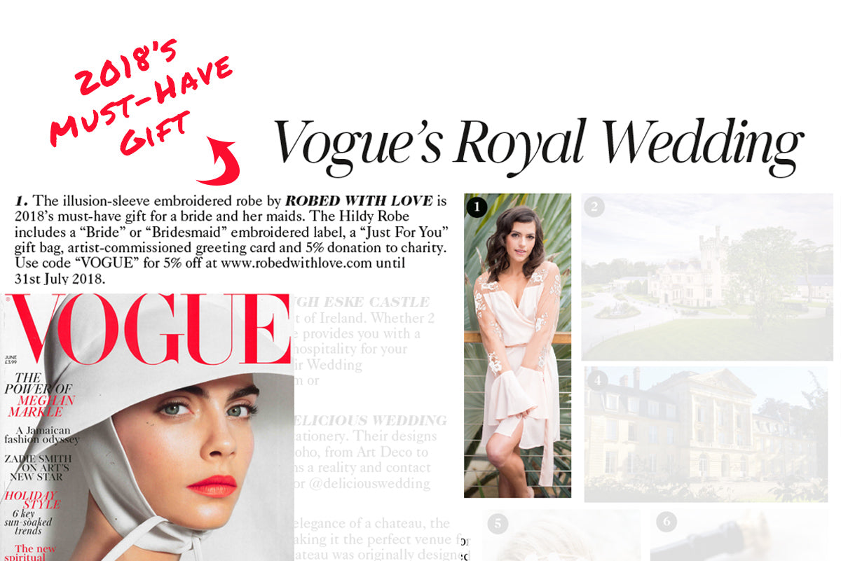 british vogue royal wedding