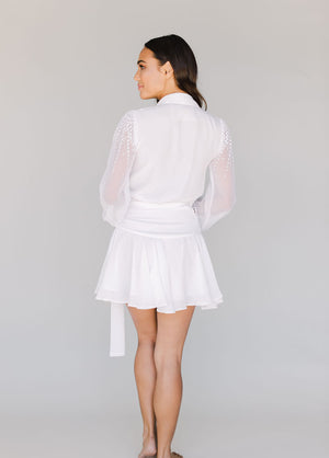 ALANNA ROBE- WHITE