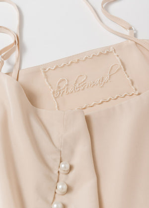 Katelyn Pajama Cami- Champagne - Robed With Love