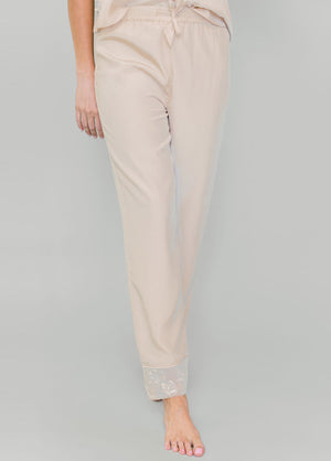 Katelyn Pajama Pant - Champagne - Robed With Love