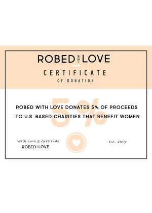robed with love donation