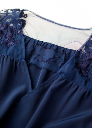 HILDY ROBE- NAVY - Robed With Love