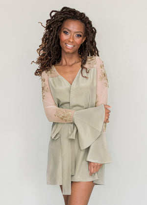 HILDY ROBE- SAGE GREEN - Robed With Love