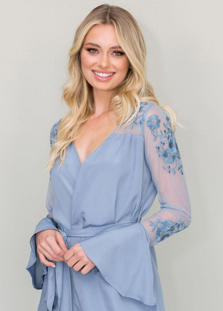 HILDY ROBE- SLATE BLUE - Robed With Love