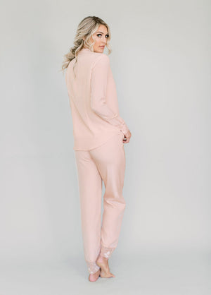Katelyn Pajama Pant - Pink - Robed With Love