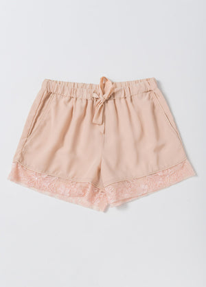 Katelyn Pajama Short- Pink - Robed With Love