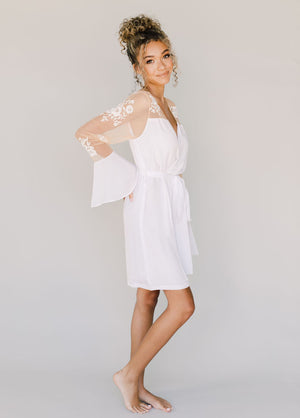 HILDY ROBE- WHITE - Robed With Love