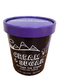Cream + Sugar Huckleberry Ice Cream Pint
