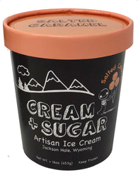 Cream + Sugar Salted Caramel Ice Cream Pint