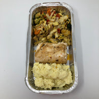 Stuffed Chicken Breast  with Mash Potatoes ( For Two People)