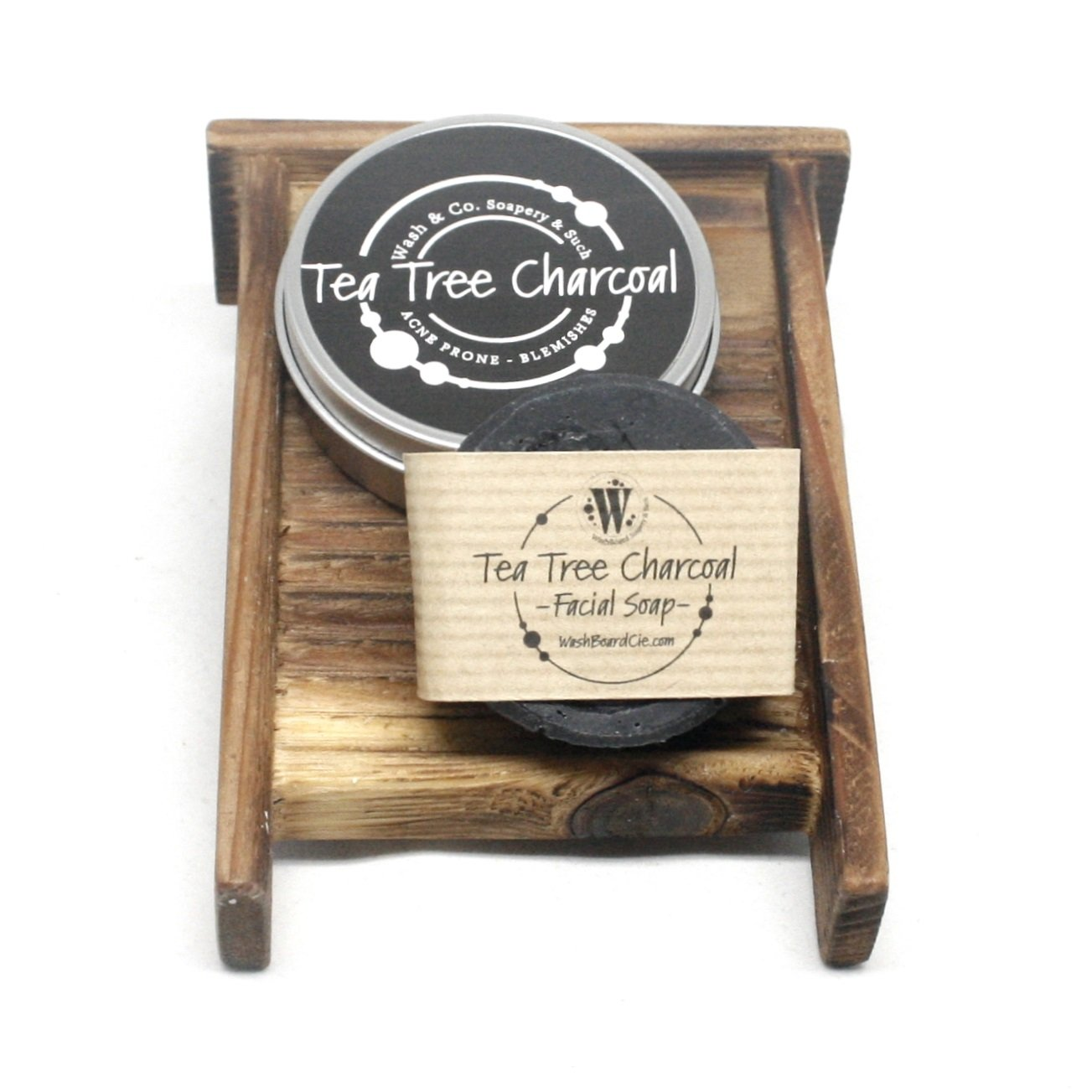 Tea Tree Charcoal Facial Soap in a Travel Tin