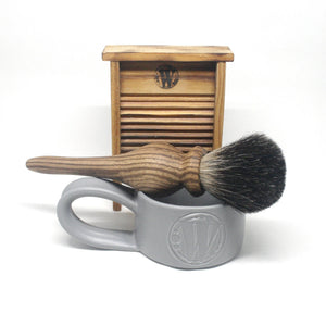 Artist's Shaving Brush Tigerwood & Black Badger