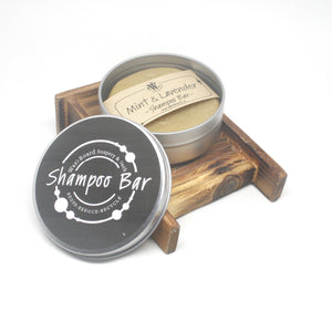 Mint-Lavender Shampoo Bar in Travel Tin