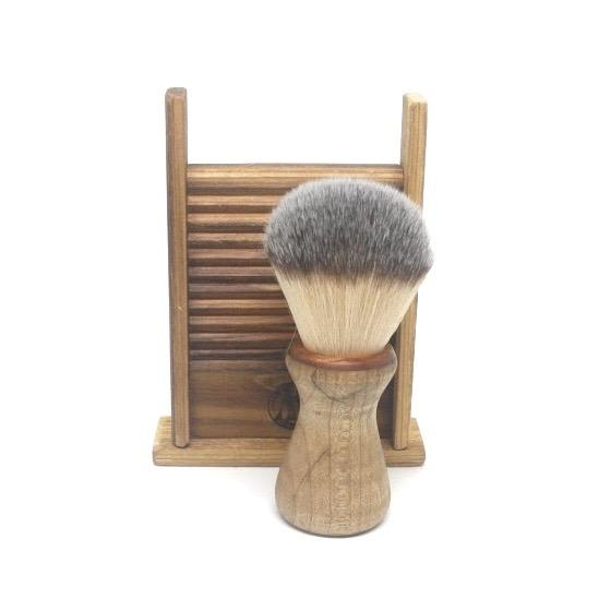Shaving Brush Maple & Nylon Bristles