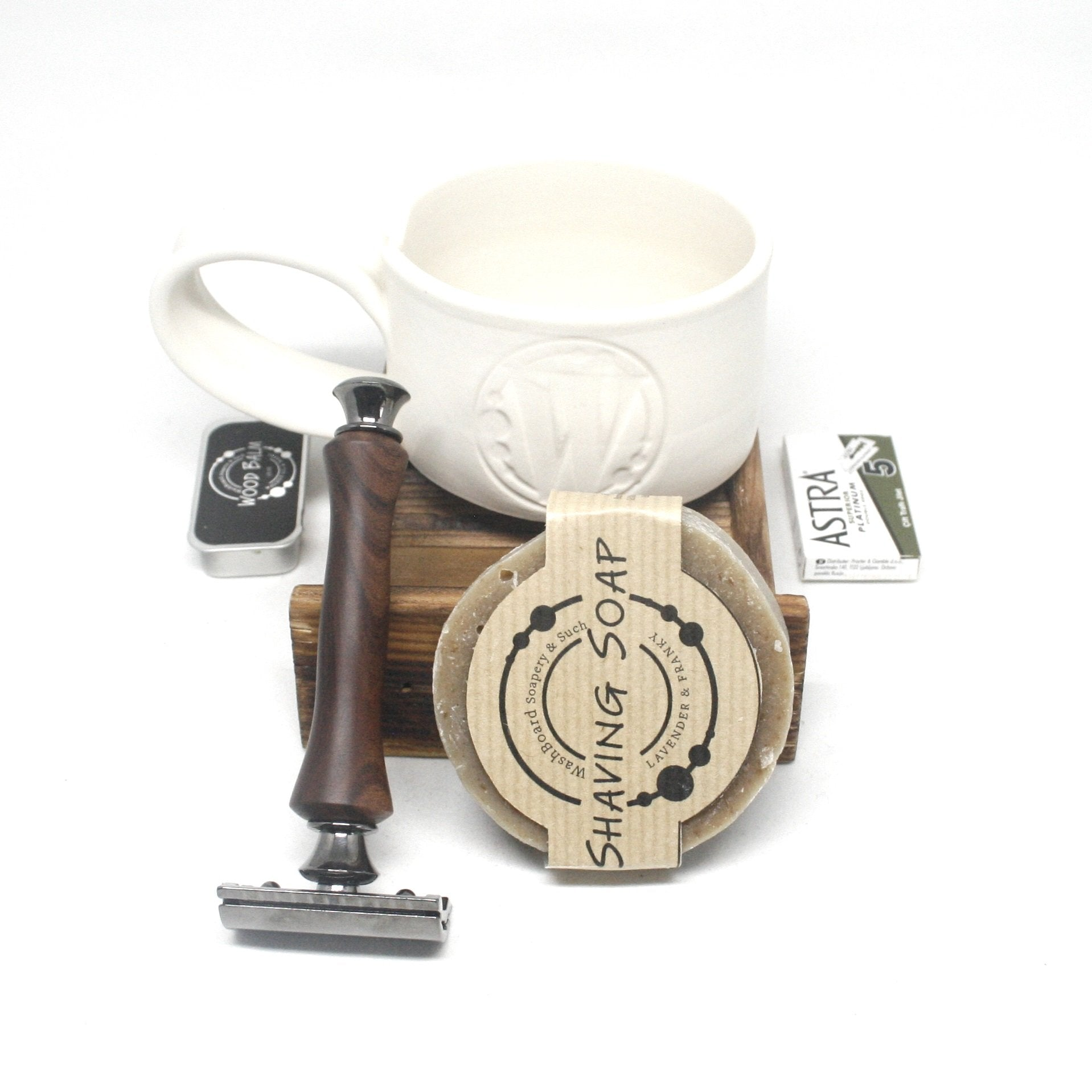 Shaving Set Razor, Shaving Soap & Mug