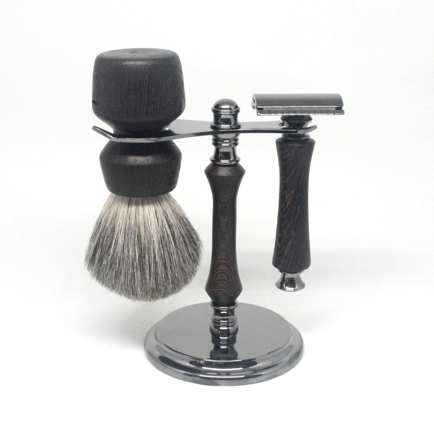 Shaving Set Wenge & Mixed Badger
