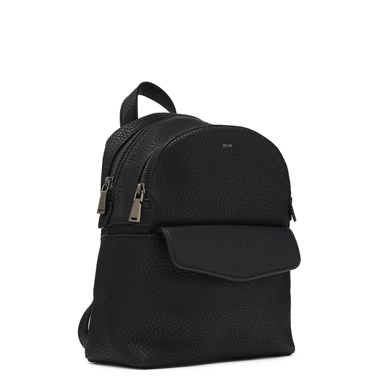 pebble mini backpack - black