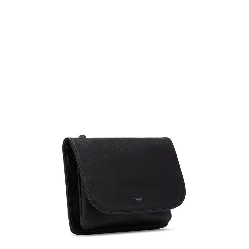 tumbled crossbody carryall - black