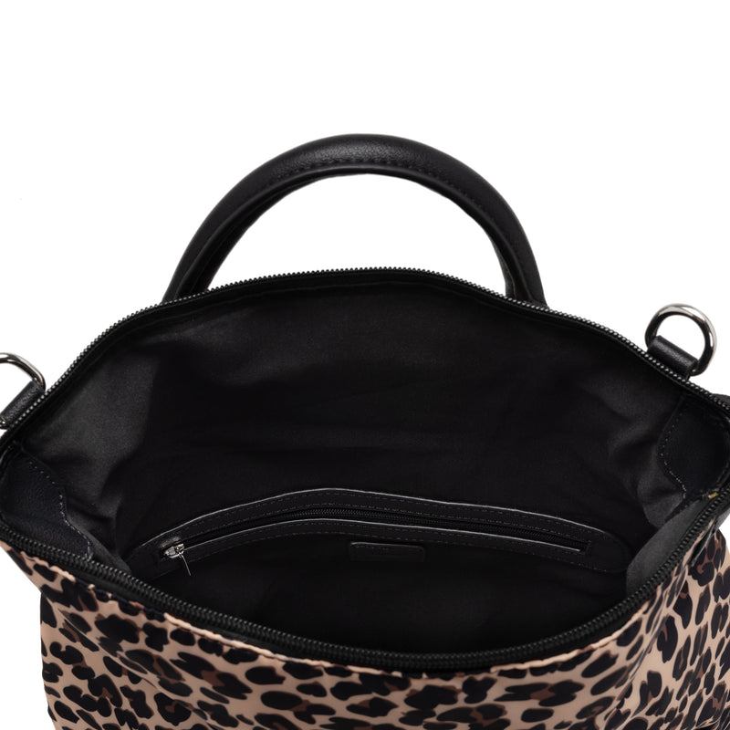 nylon convertible backpack / messenger - leopard