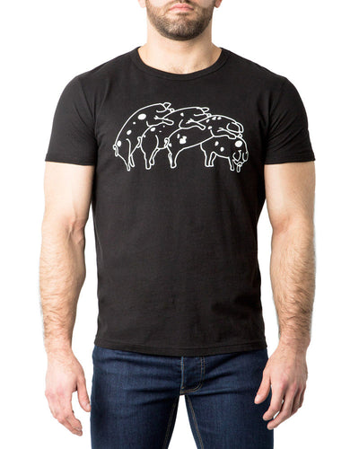 Humping Pigs T-Shirt | Black | Fall 2017 | Nasty Pig