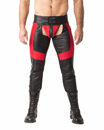 Motocross Chaps | Black/Red | Fall 2017 | Nasty Pig
