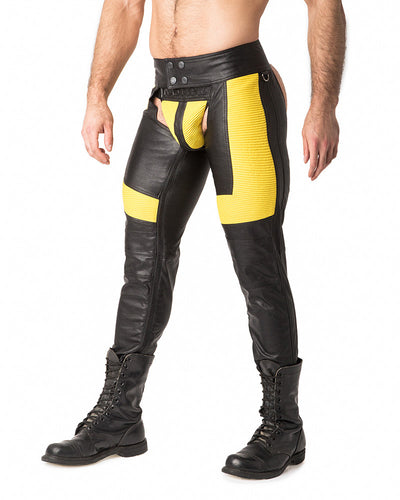 Motocross Chaps | Black/Yellow | Fall 2017 | Nasty Pig