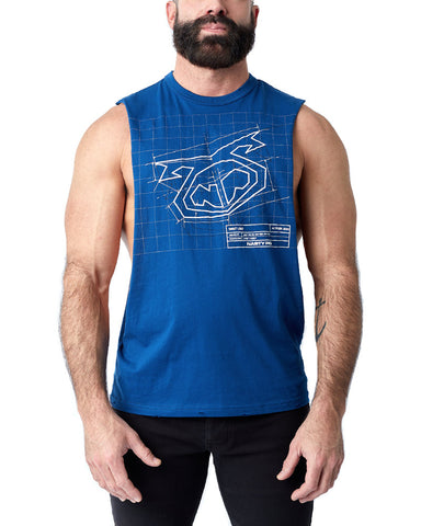 Blueprint Shredder Tank Top