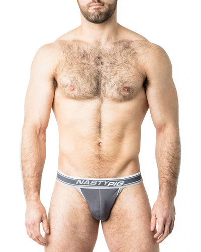 Speed Demon Jock Strap | Grey | Fall 2017 | Nasty Pig