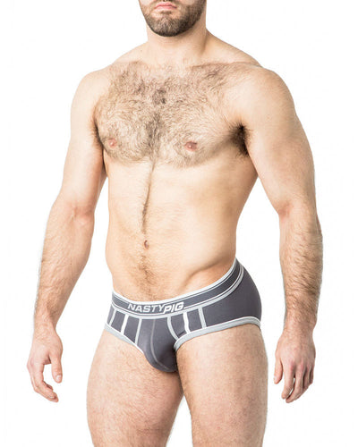 Speed Demon Brief Underwear | Grey | Fall 2017 | Nasty Pig