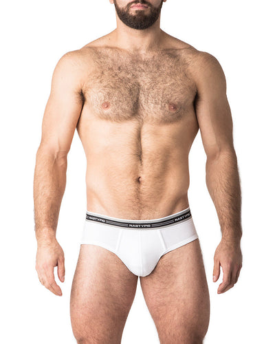 Vital Brief Underwear | White | Fall 2017 | Nasty Pig