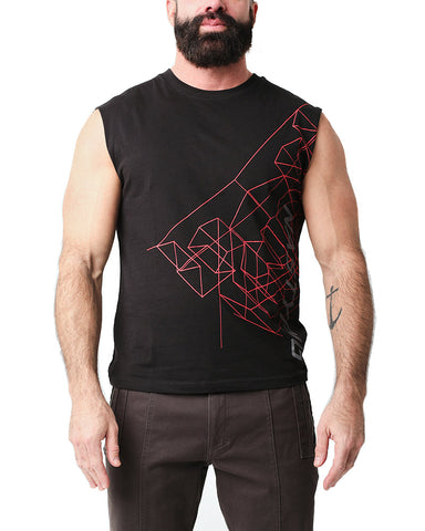 Wireframe Sleeveless Tee