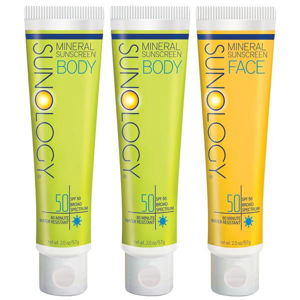 SPF 50 for Body & Face 3-Pack