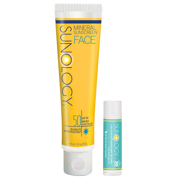 Sunology Every Adventure Set -SPF 50 for Face and SPF 30 Lip Balm