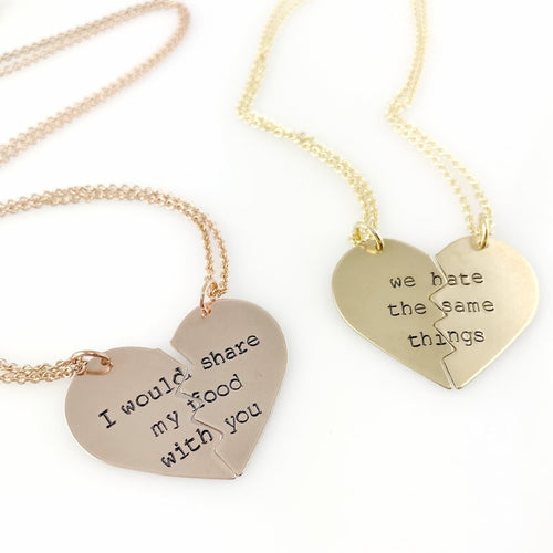 We Hate the Same Things - Friendship Necklaces