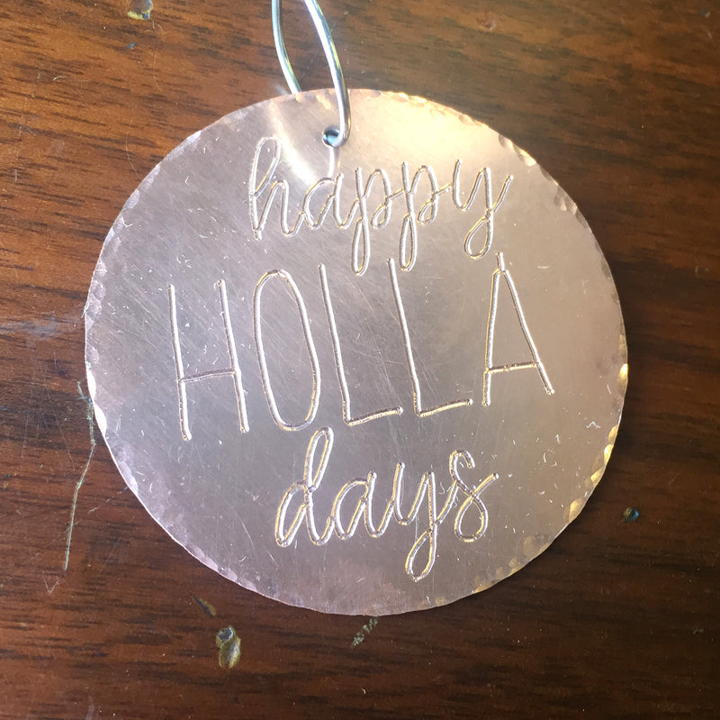 Happy Holla Days Christmas Ornament