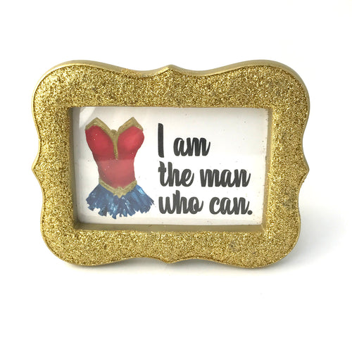 Wonder Woman - I Am the Man Who Can - Framed Mini Print