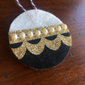 Christmas Kitsch Felt Ornaments in Black and Gold