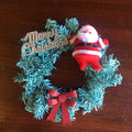 Christmas Kitsch Mini Wreath in Blue