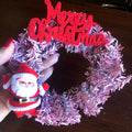 Christmas Kitsch Mini Wreath in Pink